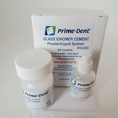 Glass Ionomer Cement Dental Grown Bridge Veneer Cure Luting Cement Exp092023
