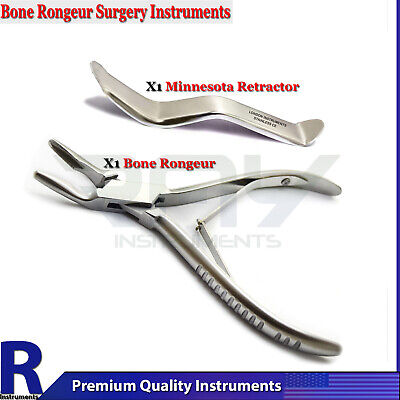 Set Of 2 Dental Minnesota Veterinary Surgery Orthopedic Bone Rongeur Plier Tools