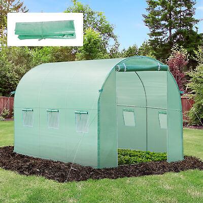 Cubierta de Invernadero Casero Tipo Túnel 300x200x200cm con 6 Ventanas PE Verde