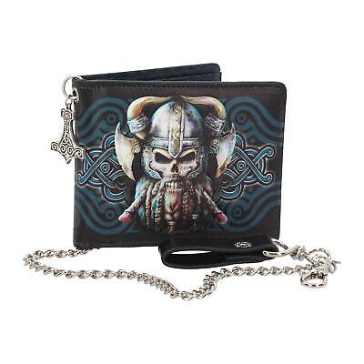 Geldbörse Portemonnaie Wikinger Thor Gothic Halloween Geld Biker Rocker NN165 ()