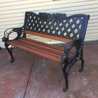 Wanted  3 Pieces Vintage iron garden bench seat Lion style on armrestgarden bench seat   Gumtree Australia Free Local Classifieds. Outdoor Bench Seats Gumtree. Home Design Ideas