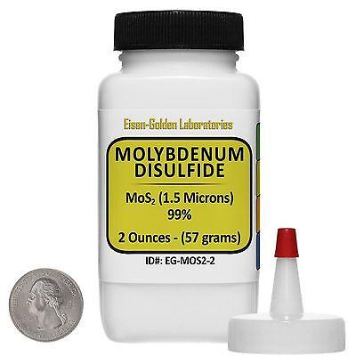 Molybdenum Disulfide Mos2 99 Ar Grade Powder 2 Oz In A Space-saver Bottle Usa