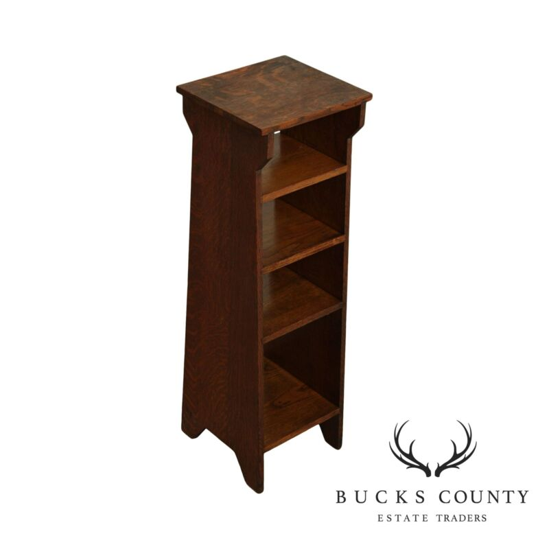 Antique Mission Oak Magazine Stand, Bookcase