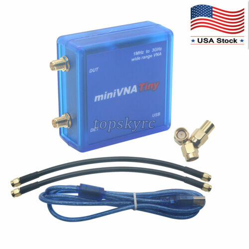 VNA 1M-3GHz Vector Network Analyzer Kit miniVNA Tiny RF Signal Generator topUS