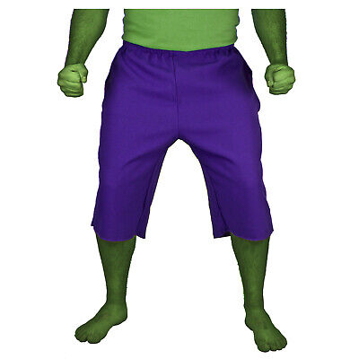 Adult Men's The INCREDIBLE HULK Purple Cosplay Costume Shorts Pants S M L XL XXL
