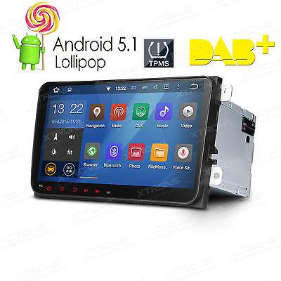 9 Zoll Autoradio Android 5.1 GPS Navigation DAB+ für Volkswagen Golf Seat Skoda