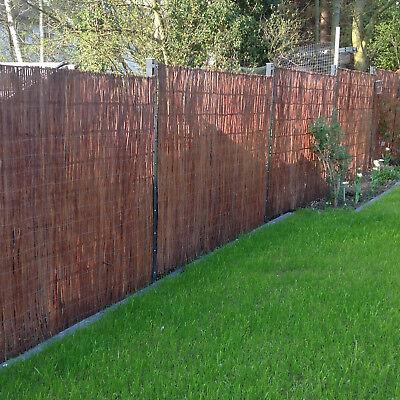 Weidenmatte Sichtschutz Weidenzaun Sichtschutzmatte Weide Zaun Matte Windschutz