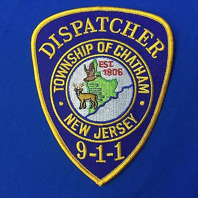 Dispatcher Township Of Chatham New Jersey Police Shoulder Patch FREE SHIPPING