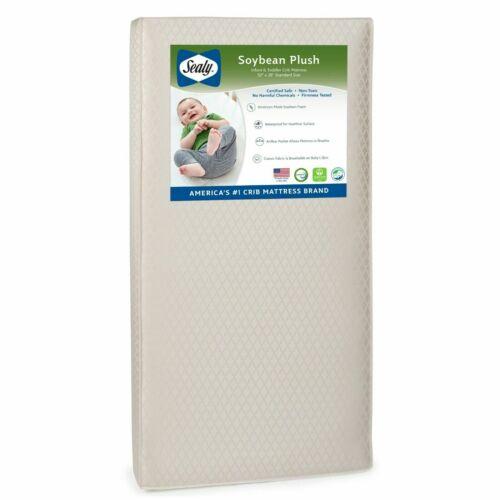Sealy Soybean Plush Waterproof Baby Crib Mattress 27x51x5