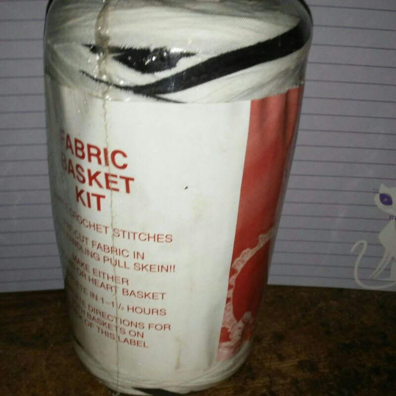 Rag Yarn Precut Fabric Strips Basket Kit Black White 15oz