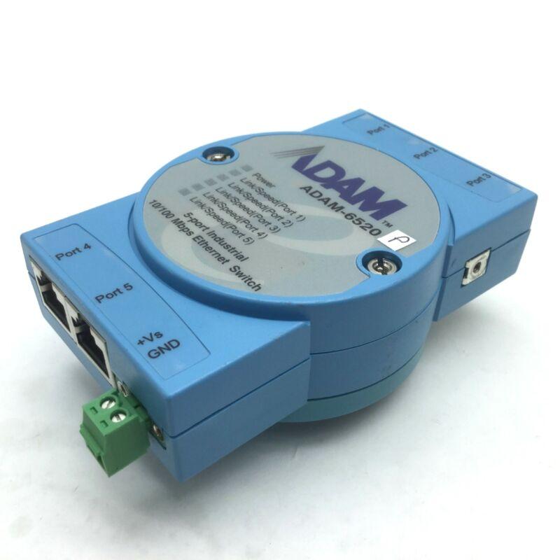 Advantech ADAM-6520 5-Port Industrial Ethernet Switch 10/100Mbps RJ-45 10-30VDC
