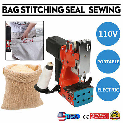 Portable Industry Electric Bag Sewing Machine Sealing Sack Stitching Closer 110v