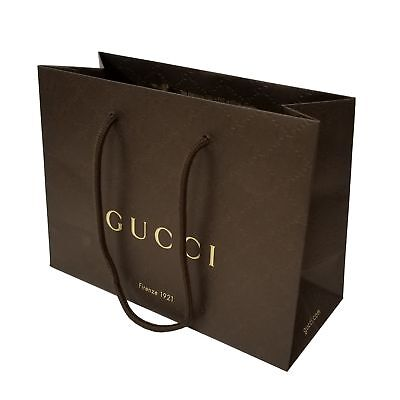 Authentic New Brown Paper Gucci Gift Bag