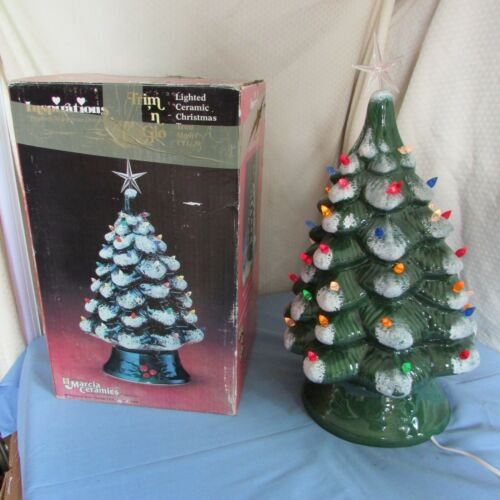 Marcia Ceramics Inspirations Lighted Ceramic Christmas Tree CTL-20 Vintage