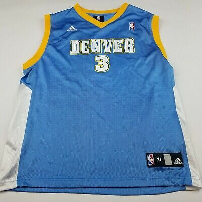 0cbfd061f6e0 Vintage Adidas Authentic Allen Iverson  3 Denver Nuggets Jersey Size XL