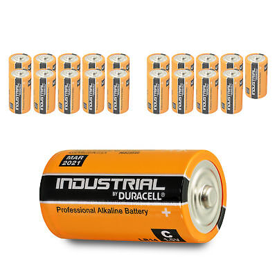 20 x Duracell Baby C Industrial LR14 UM2 MN1400 Batterie 1,5V Alkaline 20 St