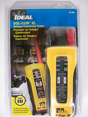Ideal Vol-con Xl Voltage Metercontinuitysolenoid Tester Wiggy New