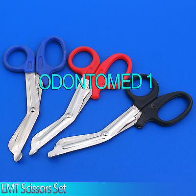 3 Nursing Emt Shears Scissors Bandage Paramedic Ems 7.25