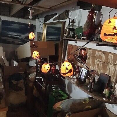 Halloween Garlands Pumpkin And Witch Hat String Lights Party Decorative LN
