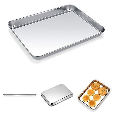 Baking Bake Veneer Pan Stainless Steel Oven Rectangle Tray Cookies Small Toaster