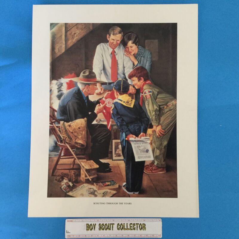 "Boy Scout Joseph Csatari Print 11""x14"" Scouting Through The Years"