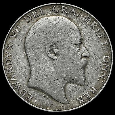 1909 Edward VII Silver Half Crown – Fine #3