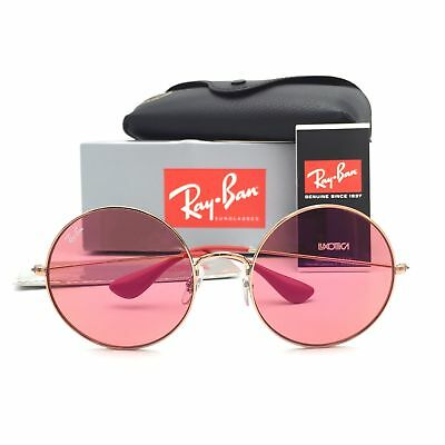 New Ray-Ban RB3592 9035C8 Ja-Jo Round Bronze Copper W/ Red Lens (Ray Ban Ja Jo Pink)
