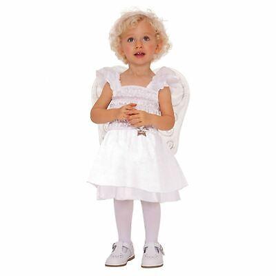 Baby Girl Fairy Costumes (Angel Baby Toddler Girl Nativity Christmas Fairy Snow Dress Costume 12-24)