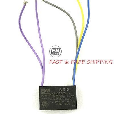 Electric Machine Capacitor CBB61 4.5uf+6uf+5uf 5 Wire Motor Ceiling Fan