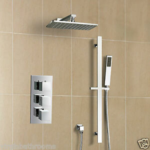 Square 3 Dial 2 Way Bathroom Concealed Thermostatic Shower