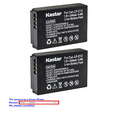 Kastar Replace  Camera Battery for Canon LP-E12 LC-E12 & Canon EOS M50 Camera