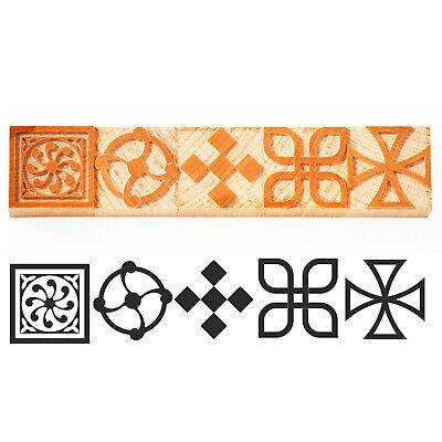 Letterpress Corner Ornament - Wood Type 6 Line 245 Mm - 5 Pieces