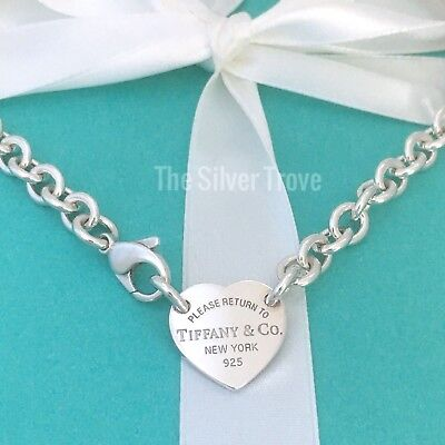 1cdae8dd1 Please Return To Tiffany & Co Center Heart Tag Silver Choker Necklace