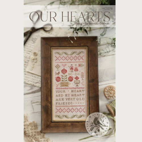 """With Thy Needle & Thread """"Our Hearts"""" Cross Stitch Pattern"""