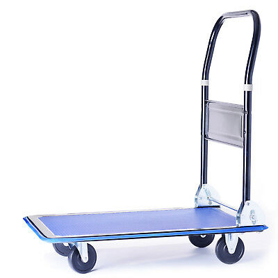 150KG Folding Platform Trolley Truck Sack Transport Heavy Duty Flat Bed Cart