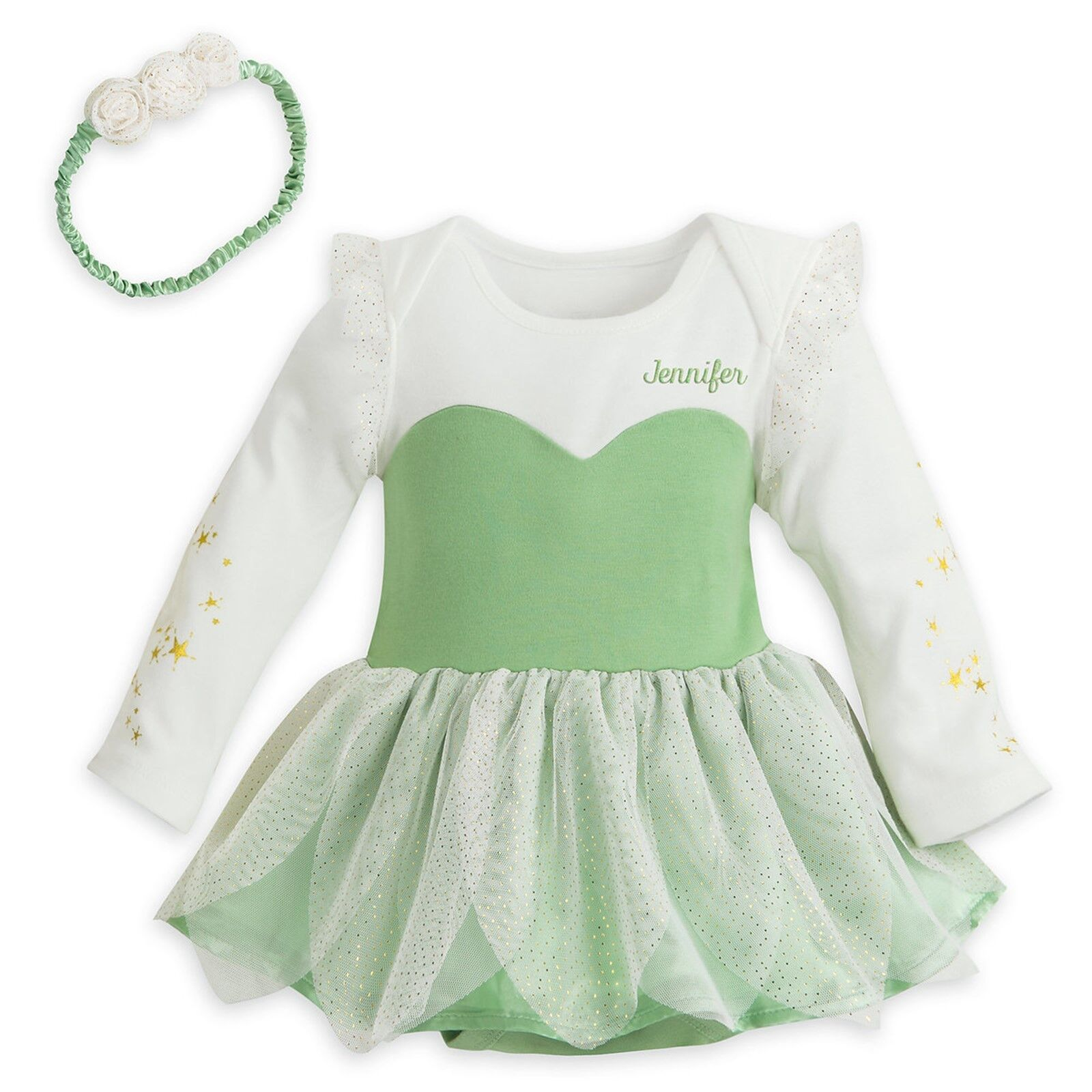 Disney Store Tinkerbell Baby Bodysuit Costume Dress Outfit W