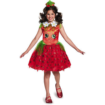 Shopkins - Strawberry Kiss Kinder Kostüm Halloween Verkleidung Klein 4-6x ()