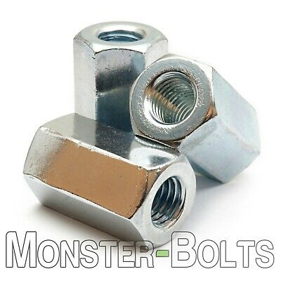 Hex Coupling Nuts DIN 6334 Zinc Plated Class 6 Steel Cr+3 RoHS, Metric M6 M8 - Metric Coupling Nuts