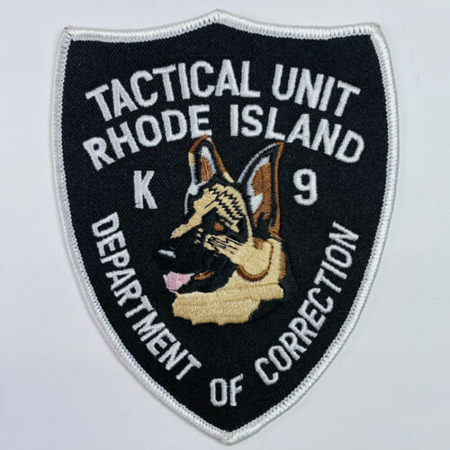 Tactical Unit K9 Department Of Corrections DOC Rhode Island RI Patch (A1)