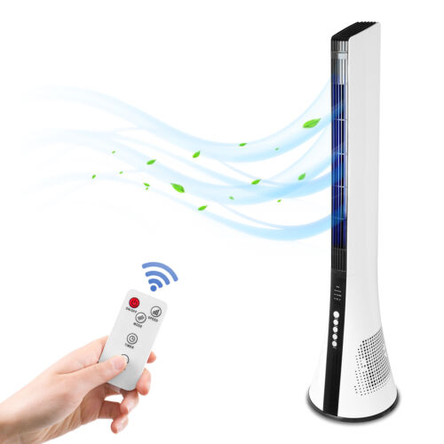 """43"""" Tower Fan 3 Speed Oscillating Air Cooler Stand Remote Control Office Bedroom"""