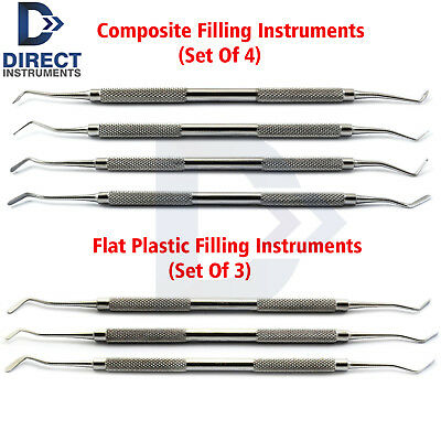7pcs Restorative Composite Dental Surgical Filling Instruments Plugger Spatula