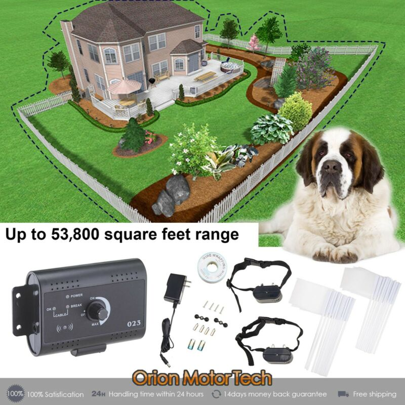 Electric Dog Fence System Waterproof Shock Collars For 2 Dogs