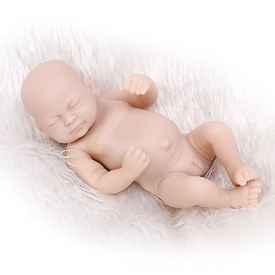 "10"" Reborn Baby Doll Kit Full Limbs Girl Soft Silicone Vinyl DIY Unpainted Doll"