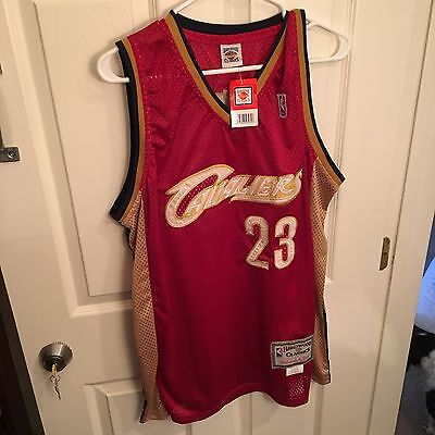 51144641693 LEBRON JAMES Cleveland Cavs MITCHELL & NESS MEN'S JERSEY DEADSTOCK SIze 54  NWT