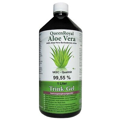QueenRoyal Aloe Vera Trink Gel 99.55 % pur 1 Liter Flasche #30255-G