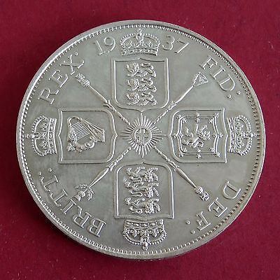 1937 EDWARD VIII HALLMARKED SILVER PROOF PATTERN DOUBLE FLORIN