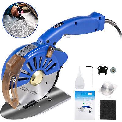Cortadora de Tela Eléctrica y Giratoria de 125mm con Cuchillas para Cuero...