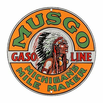 Vintage Design Sign Metal Decor Gas and Oil Sign - Musgo Michigan's...