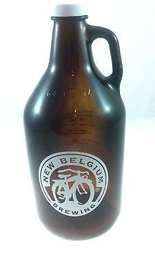 Fat Tire Beer - New Belgium Brewing - 64oz Glass Beer Bike Bottle Growler - New!