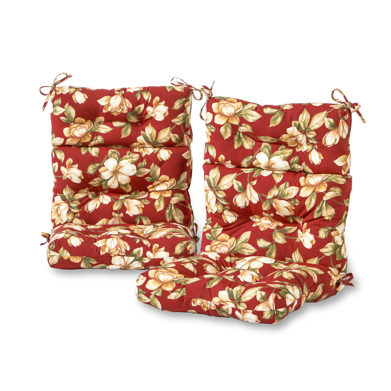 Greendale Home Fashions Roma Floral Outdoor High Back ...